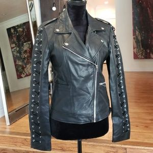 Jackets & Blazers - [Max Edition] Leather corset detail jacket